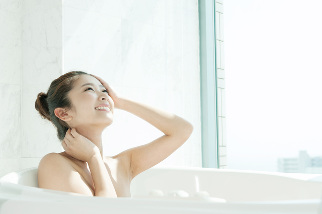お風呂でバストアップ